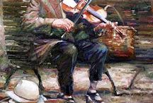 chuk  Weber suonatore anziano di violino