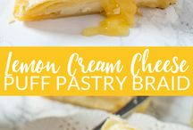 Lemon cream cheese puff pastry braid