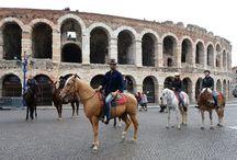 FIERACAVALLI 2017 | LA 1ª IPPOSTRADA URBANA CON ALEX BELLI / Alex Belli ha percorso per la prima volta l'ippovia urbana da Corte Molon fino al cuore di Verona