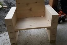 Children chair. / making my girl's outdoor furniture