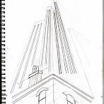 Szkice - budynki, perspektywa, pokoje