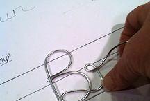 Letras en alambre