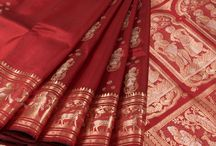 Baluchari Sarees / Exquisite Baluchari Sarees woven with Intricate Visual Narratives from the Ramayana, Mahabharata and Moghul Courts.  Heirloom Sarees that are a must have for every saree afficianado