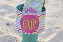 Monogrammed Sand Spikers / Monogrammed Sand Spikers Beverage Holder Boutiqueme.com