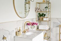 Gold & Marble Ensuite Bathroom