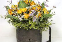Dried flower arrangements