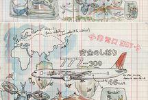 Carnets, cartes & livres de Voyage