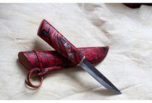 Omia puukkoja, self made knives / Tuon tänne kuvia omista käsin tehdyistä puukoistani. These knives I have made myself.