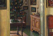 Christmas interior paintings