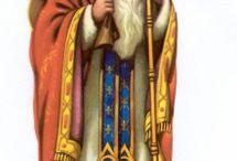 scrap Saint Nicolas Sankt Nikolaus Sint Nicolaas / saint Nicolas en pain d'épices .