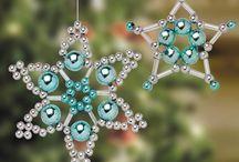 Vánoční hvězdičky korálkové - inspirace