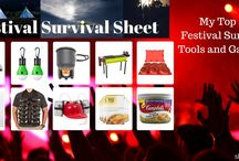 Festival Survival Sheet / Stuff that helps you to survive a Festival