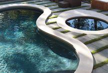 Pool and paving