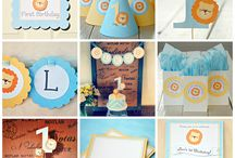 Little Man: His 1st Birthday  Let's Get Down To It! / These pins are my main ideas to use