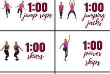 aerobic training and stretching!