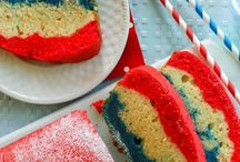 4th of july / memorial day / Red white and blue color theme recipes for 4th of july and memorial day