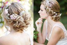 Peinados con coronas florales