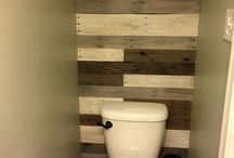 Pallet badkamer muren