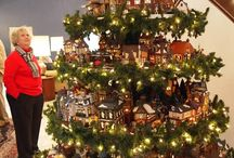 Christmas Village Display.