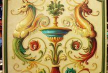 stilizált festészeti minták