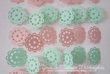 Paper Garlands / beautiful paper heart garland perfect for wedding decor, parties, or to decorate anywhere!  / by Agnes Maurice