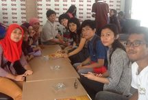 At gerobak cokelat with my friend's