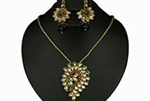 Traditional Bollywood Designer Pendant Jewelry Set