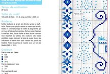 TABLECLOTHS- BLUE *CROSS STITCH