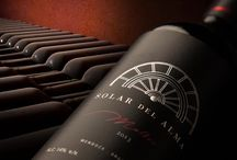 """Solar del Alma by Bodegas Krontiras / Solar del Alma is the name of the special series of Malbec wine from the Greek winery Krontiras located in Mendoza, Argentina.  The packaging designed by Caliptra is inspired by the brand name that means """"the refuge of the soul"""". """"When we designed this label, we decided to use black colour to give elegance to the packaging and we designed the crown of Helios, god of peace in the roman mythology, to allude to the origin of this Greek winery."""""""