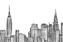 NYC wall drawing