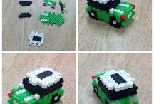 grøn bilen