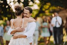 Real Weddings: Fashion / Wedding gowns, bridesmaids' dresses, groomsmen's suits, flower girl, and ring bearer fashion from real weddings.