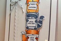 Mama Elephant - Three Amigos critter banner stamps