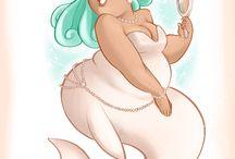 fat mermaid <3 / by Erica Scott