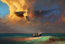 whale art