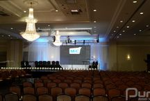Pearson Convention Center - June 24, 2014 / A rather small 35 panel setup for a keynote speaker and a few panelists on stage.