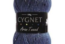 Cygnet Aran Tweed / Cygnet Aran Tweed is a great addition to the Cygnet Aran range.  With the complimentary flecks in this yarn, its gives it a lovely effect to any finished project.  It is machine washable.