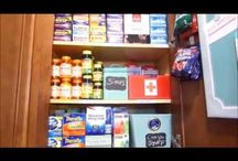 Medication Storage / Organizing my medication in my kitchen cabinets.