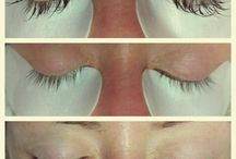 Eyelash Extensions / Semi-permanent eyelash extensions.  Examples of the variety of looks that can be achieved by using different lashes, curls and lengths