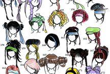 Manga och anime hår