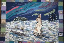 Rug Hooking - Animals / All things bright and beautiful. / by Kay LeFevre