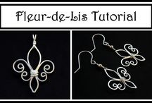 Jewelry Tutorial : How to Make Fleur de Lis Pendant or Earrings : Wire W...
