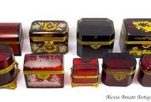 Antique Casket and Boxes
