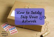 Art sale and ship tips