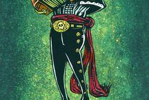 mexican acordeon schelet