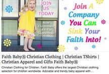 Faith Baby Christian Clothing / http://www.faithbaby.com/ShopWithAlice / by Alice Masci