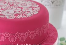 My Favourite Cake Stencils  / Often the icing on the cake, stencils create the patterns that speak straight to our hearts and minds. They twist and turn into delightful designs - lustrous, yet with a lightness of touch. I am simply addicted to using these on my cakes - so simple yet so effective.