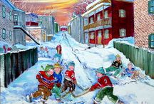 Lise Labbé / Born in the late 1930's into a working class Montreal family, Lise Labbe now lives and paints in the Laurentians. She is a self-taught painter that has made a name for herself all over Canada as one of the foremost Art Naïf painters.