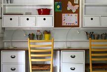 Zonas de trabajo / Distintos tipos de escritorios para grandes y chicos...