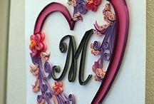 quillography / Paper quilling, quilling lettering, filigrana di carta, paper art,